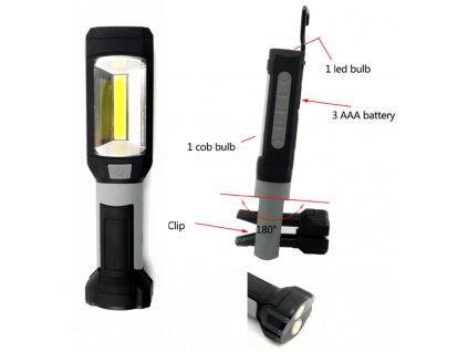 Svietidlo LED 200 LM s batériami