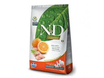 N&D Dog Adult Medium Fish & Orange (12kg)