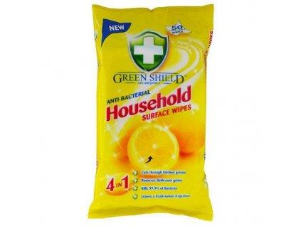 GREEN SHIELD čistiace utierky antibakteriálne 50ks