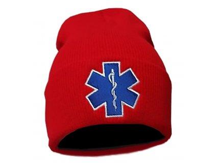 Zimná čiapka Kulich s výšivkou EMS (červená)