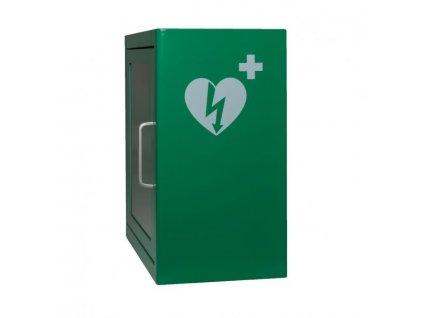 Skrinka pre AED s alarmom - zelená