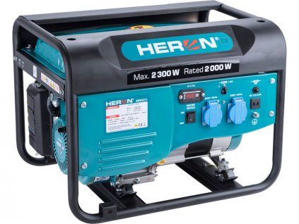 HERON Elektrocentrála rámová benzínová, 1F, 2,3kW/230V
