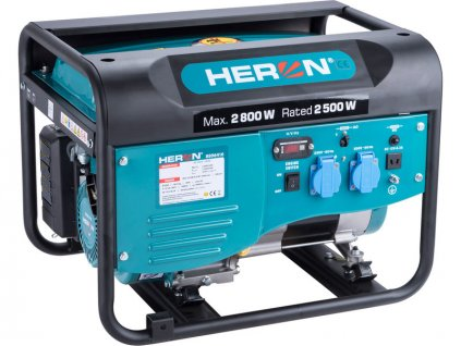 HERON Elektrocentrála rámová benzínová, 1F, 2,8kW/230V