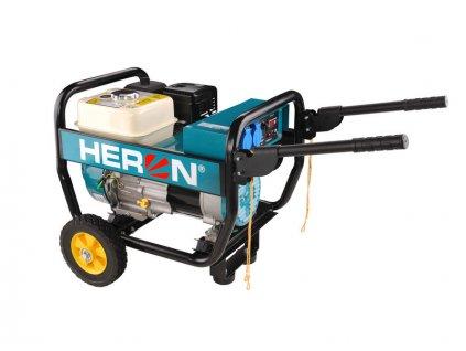 HERON Elektrocentrála benzínová Industrial, 1F, 2,8kW/230V, podvozok