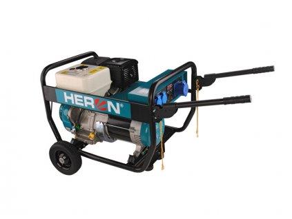 HERON Elektrocentrála benzínová Industrial, 1F, 7,0kW/230V, podvozok