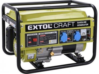 EXTOL CRAFT Elektrocentrála rámová benzínová, 1F, 2,8kW/230V