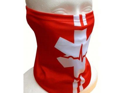 Multifunkčná šatka - nákrčník EMS Hviezda života (červená)