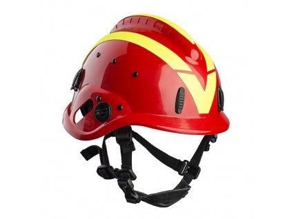 Prilba VALLFIREST VF1 na lesné požiare (červená)