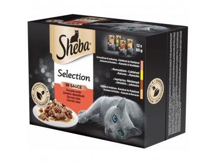 SHEBA Selection Šťavnatý výber (12 x 85g)