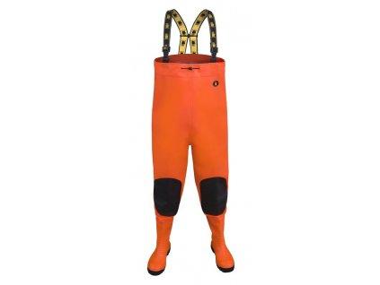 Brodiace nohavice PROS, fluo-oranžové