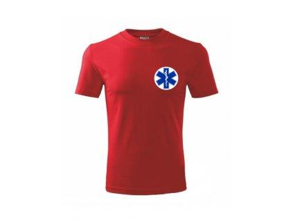 EMS Ared tričko červené - pánske
