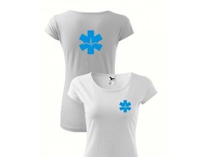 EKG tričko biele - dámske