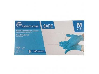 ESSENTI CARE jednorazové nitrilové rukavice, bez púdru, bal. 100 ks