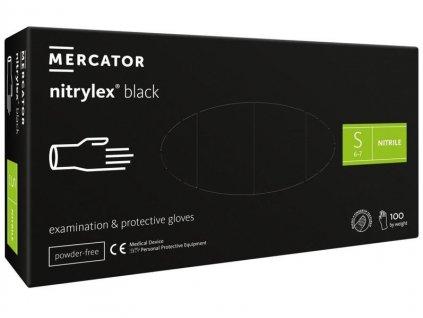 NITRYLEX jednorazové nitrilové rukavice, bez púdru, čierne, bal. 100 ks
