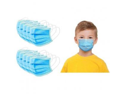 detské rúško modré