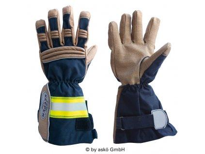 ASKÖ FIRE KEEPER PBI zásahové rukavice (dlhá manžeta)