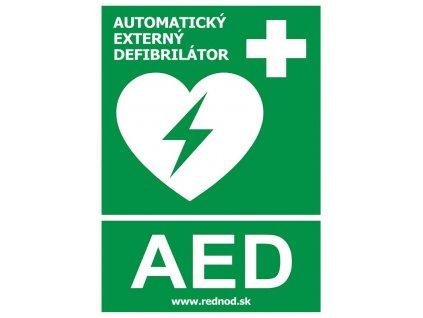 Samolepka AED - Defibrilátor (15x21cm)