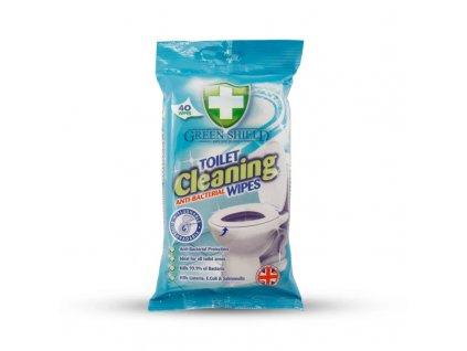 GREEN SHIELD čistiace utierky TOAILET 40ks