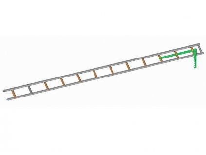 Hákový rebrík - s oválnym profilom