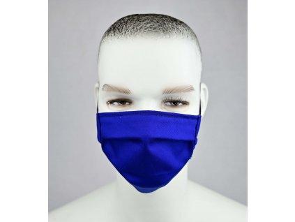 Ochranné bavlnené rúško modré