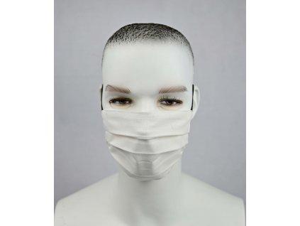 Ochranné bavlnené rúško biele