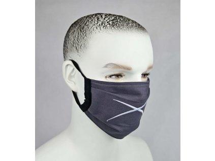 Ochranné bavlnené rúško Revolution X Plus GRAY