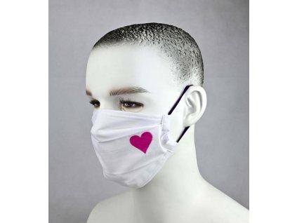 biela ruzove srdce 1