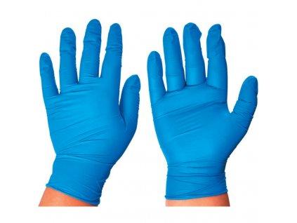 jednorazové nitrilové rukavice