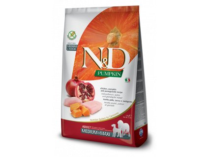 N&D Dog Pumpkin Chicken And Pomegranate Adult Medium & Maxi (2,5 - 12 kg)