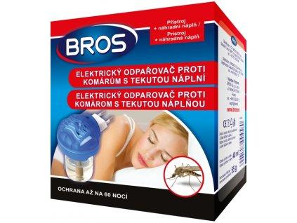 BROS elektrický odparovač proti komárom