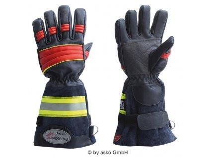 ASKÖ PATRON RED DRAGON zásahové rukavice (dlhá manžeta)
