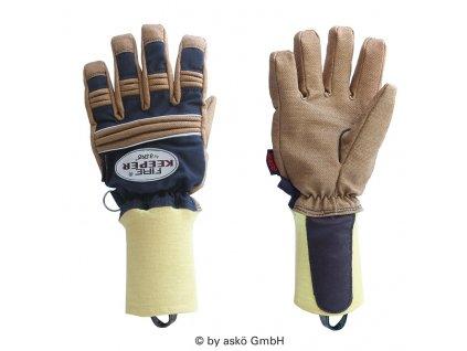 ASKÖ FIRE KEEPER PBI zásahové rukavice (pletená manžeta)