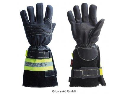 ASKÖ FIRE ACTION zásahové rukavice (dlhá manžeta)