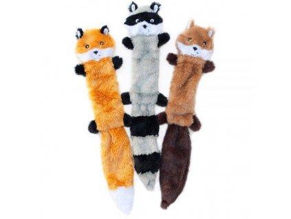 ZippyPaws Skinny Peltz, 3 plyšové zvíieratká Large, hračka pre psa