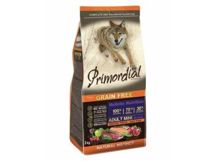 Primordial GF ADULT MINI Trout & Duck, 2 kg - granule pre psov