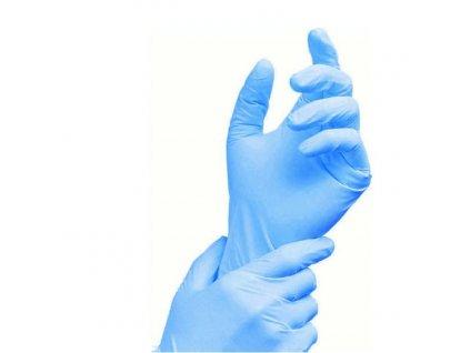 Jednorazové rukavice nitrilové, modré, bal. 300ks