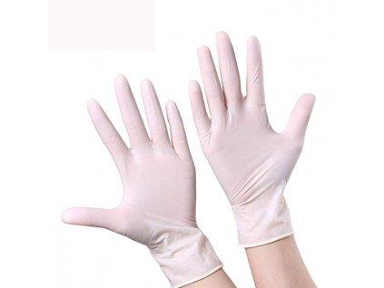 HYG-SAN jednorázové rukavice nitrilové, biele, bal. 100ks
