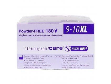 SEMPERCARE Velvet jednorazové rukavice nitrilové, modré, bal. 180ks