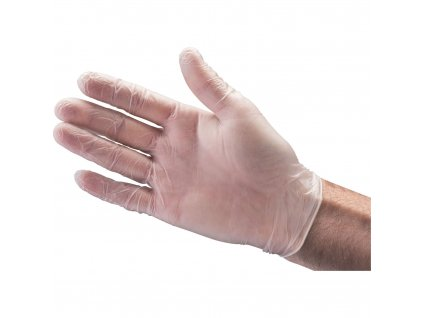 SOFT-HAND jednorázové rukavice vinylové, pudrové, bal. 100ks