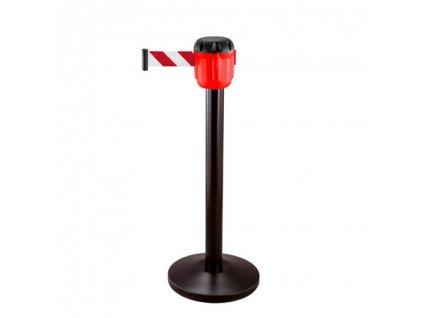 Stabilný zahradzovací stĺpik s uchytením BASIC - červený