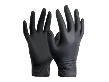 REFLEXX N79 jednorazové rukavice nitrilové, bez púdru, čierne (50ks)