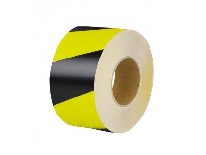 Univerzálna podlahová značiaca páska, 10cm x 25m, čierno / žltá
