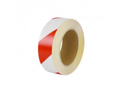Univerzálna podlahová značiaca páska, 5cm x 10m, bielo / červená