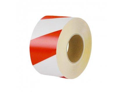 Univerzálna podlahová značiaca páska, 10cm x 10m, bielo / červená