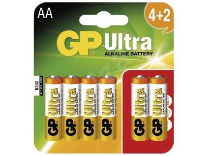 GP Ultra Alkaline LR06 (AA) batérie 4+2 ks