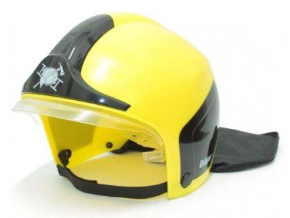 Detská prilba hasičská (žltá)