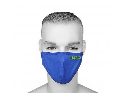 Ochranné bavlnené rúško HASIČI - modré