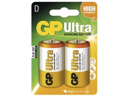 GP Ultra Alkaline LR20 (D) batérie 2ks