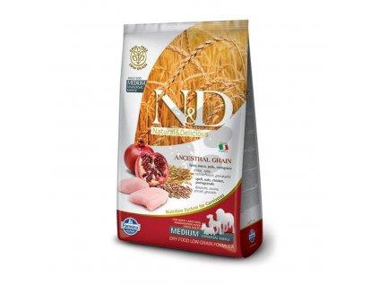 N&D Dog LG Adult Medium & Maxi Chicken, spelt, oats & Pomegranate (2,5 kg)