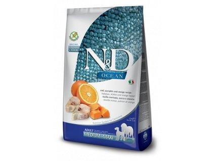 N&D Ocean Dog Adult Medium & Maxi Cod, Pumpkin & Orange (12 kg)